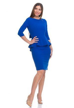 Vestidos de Fiesta Madrid Me Pido Este Vestido Azul Lazo Atrás F00007 1