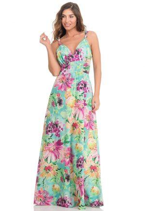 Vestidos de Fiesta Madrid Me Pido Este Vestido Flores Largo Escote F00011