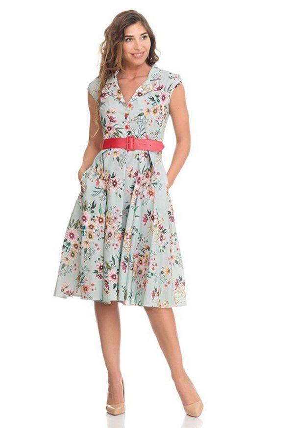 Vestidos de Fiesta Madrid Me Pido Este Vestido Flores Velvet-F00006
