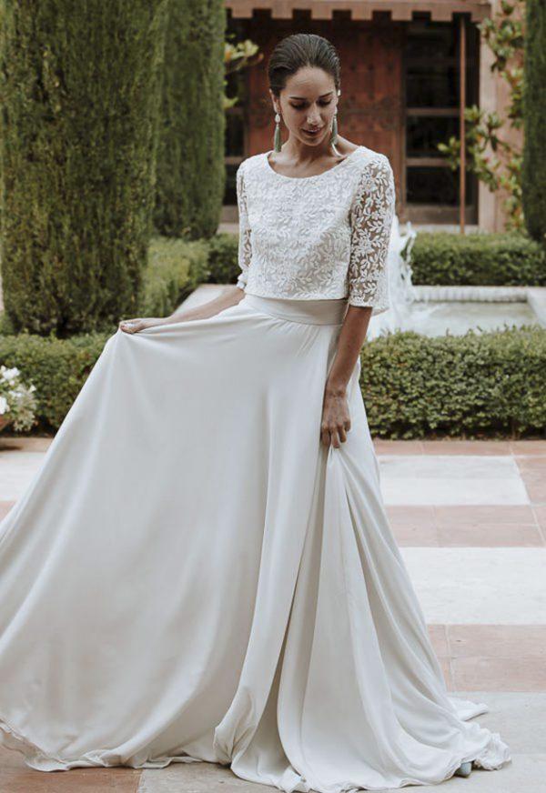 Vestidos de Novia baratos Madrid Me pido este Vestido Colección Nova Caeli | Victoria Imaz > Combinación Top Falda 1 1